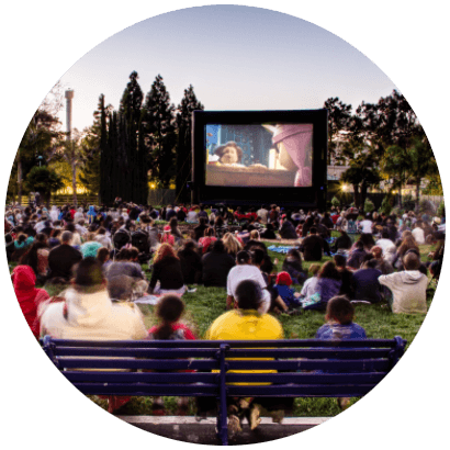 Circle image for outdoor movie business opportunity