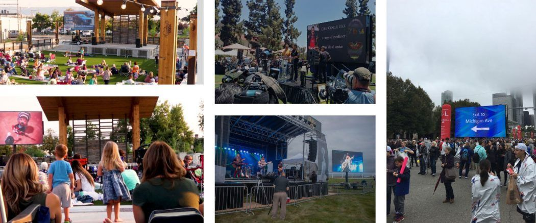 Outdoor LED Screen Rental Images
