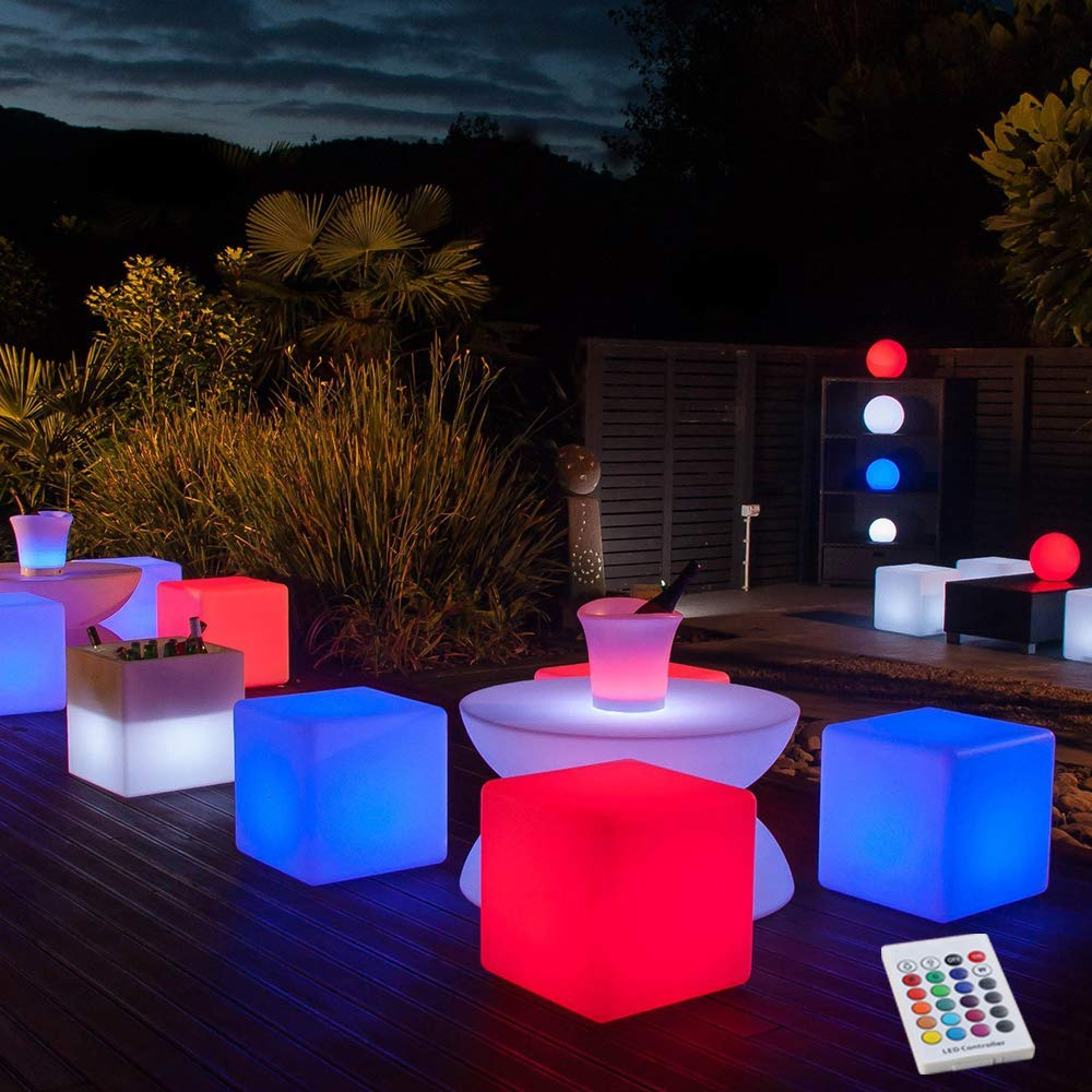 led furniture for outdoor movie parties or led events