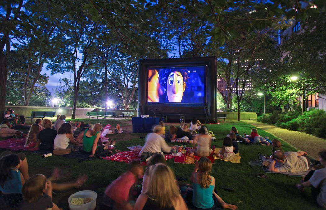 Movie Projection Rentals Kingston, NY utilizing FunFlicks® inflatable screens and projectors