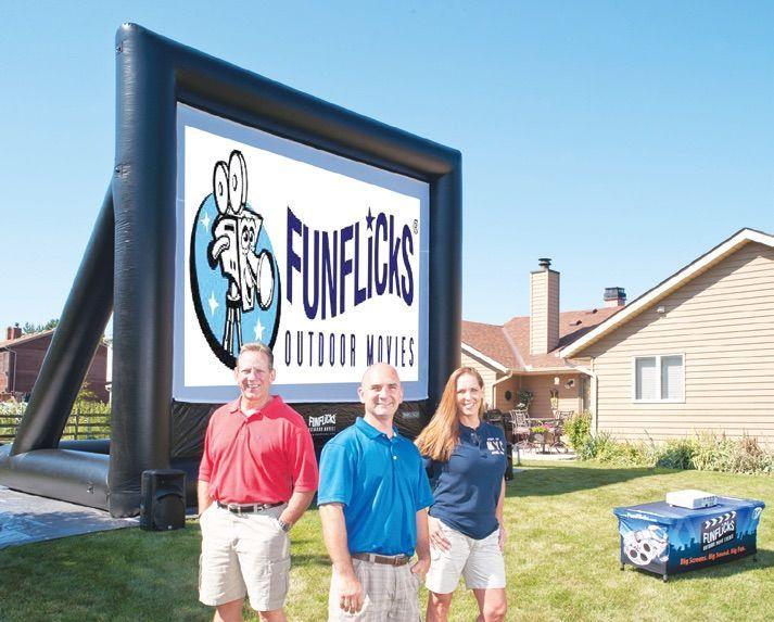 Movie Screen Rental Omaha, Nebraska using FunFlicks® Outdoor Movie Equipment Services