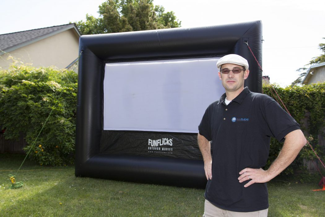 Movie Screen Rental Sacramento California by Paul the Outdoor Movie Guy at FunFlicks®