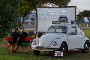Proposal at the drive-in