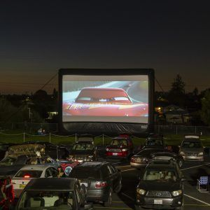 Drive-in at a local school