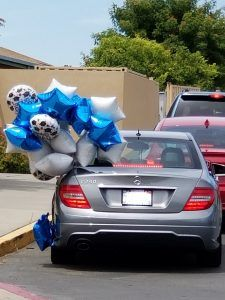 Drive-thru graduation fun