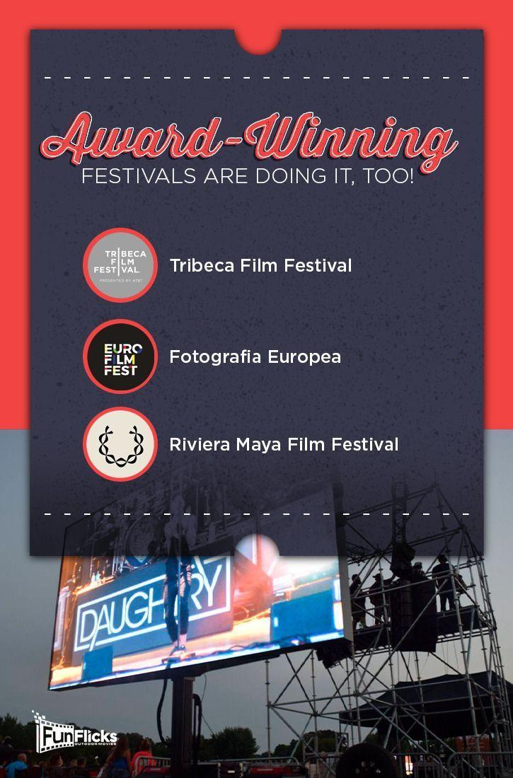 Award Winning Film Festivals use LED Screens