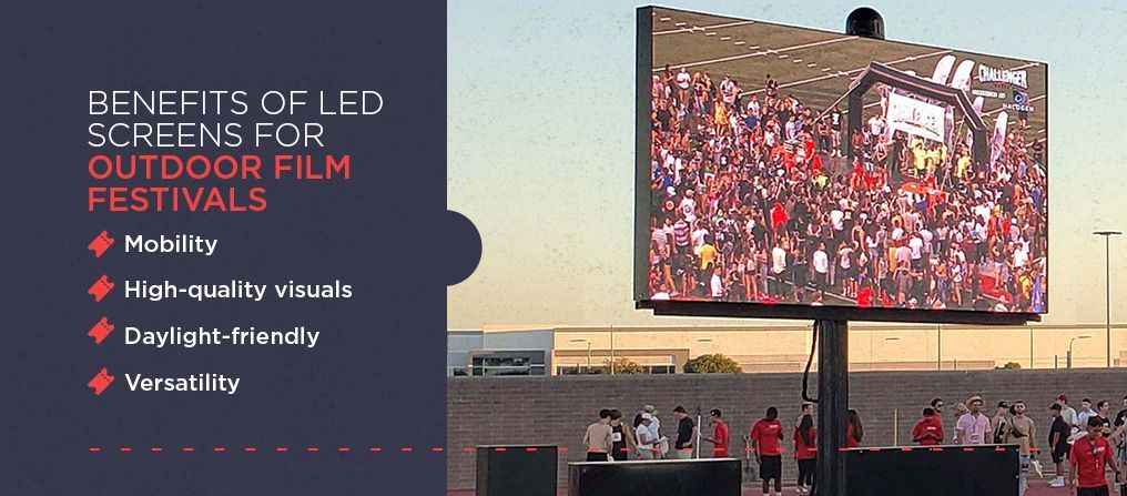 Benefits of LED Screens for Outdoor Film Festivals
