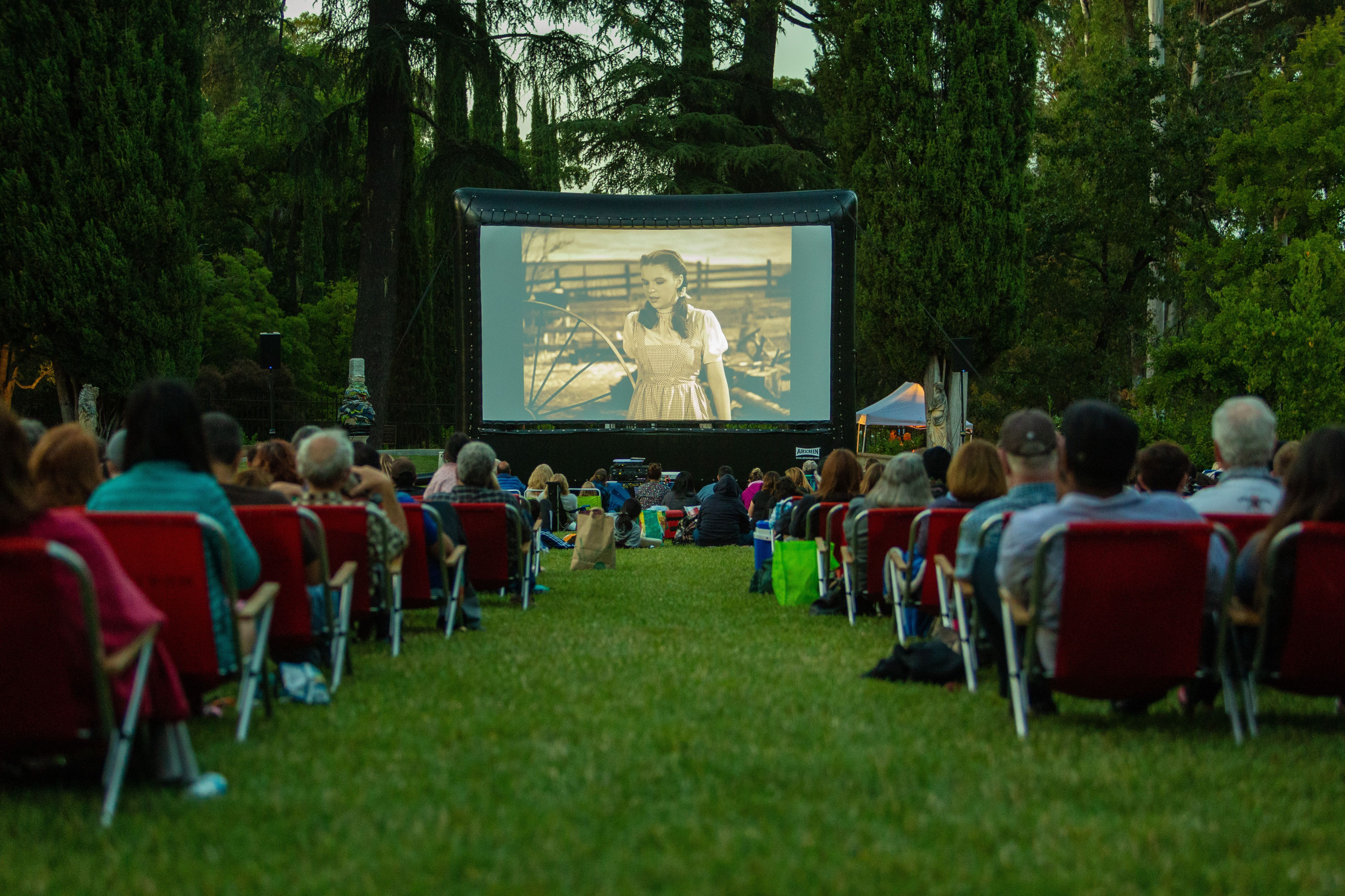 Innovative parks and recreation ideas include an outdoor movie night for the community hosted by Fun Flicks