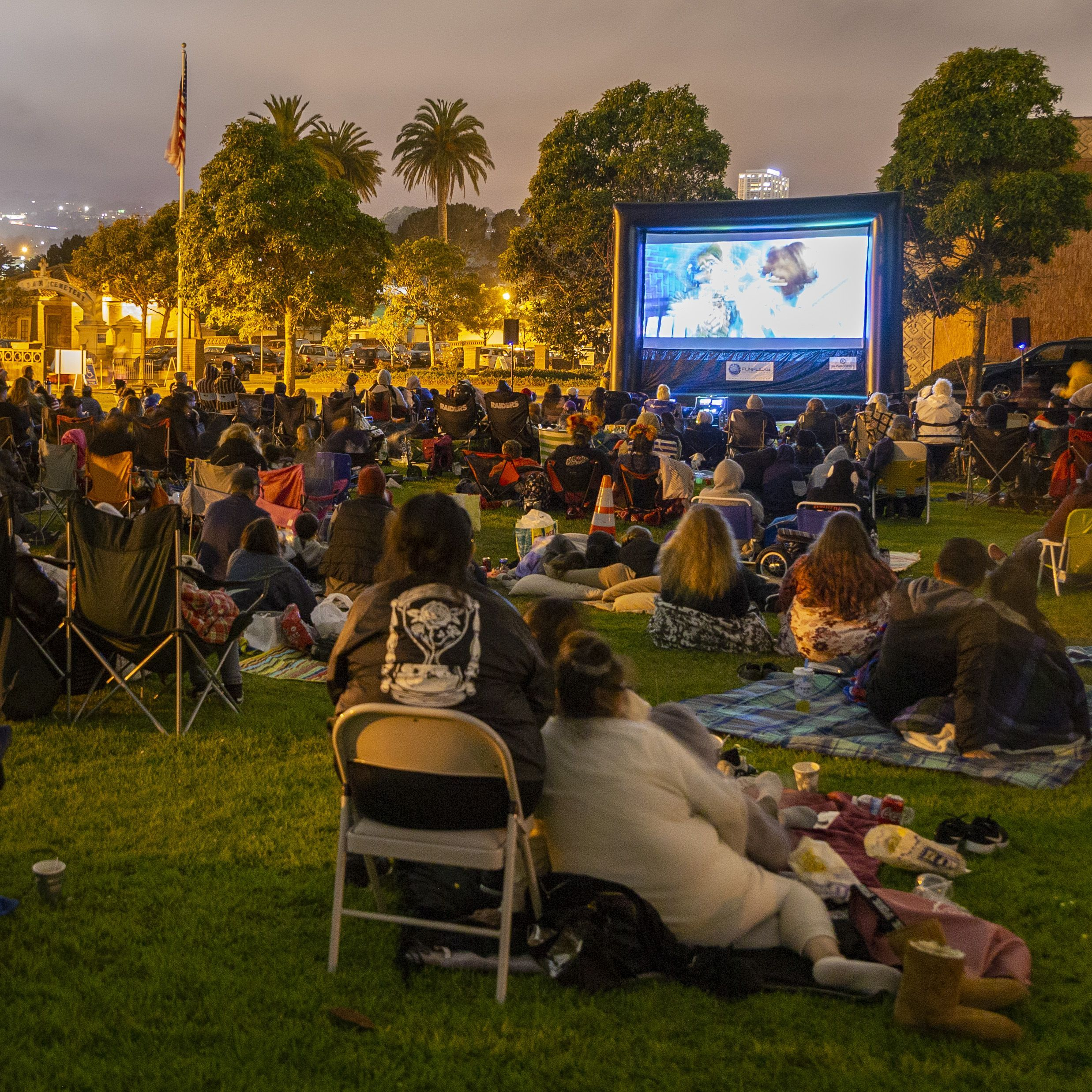 Parks and Recreation month ideas includes hosting an outdoor movie special event