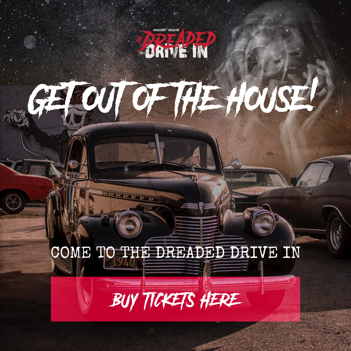 Cinema of horrors hosted by the Dreaded Drive in