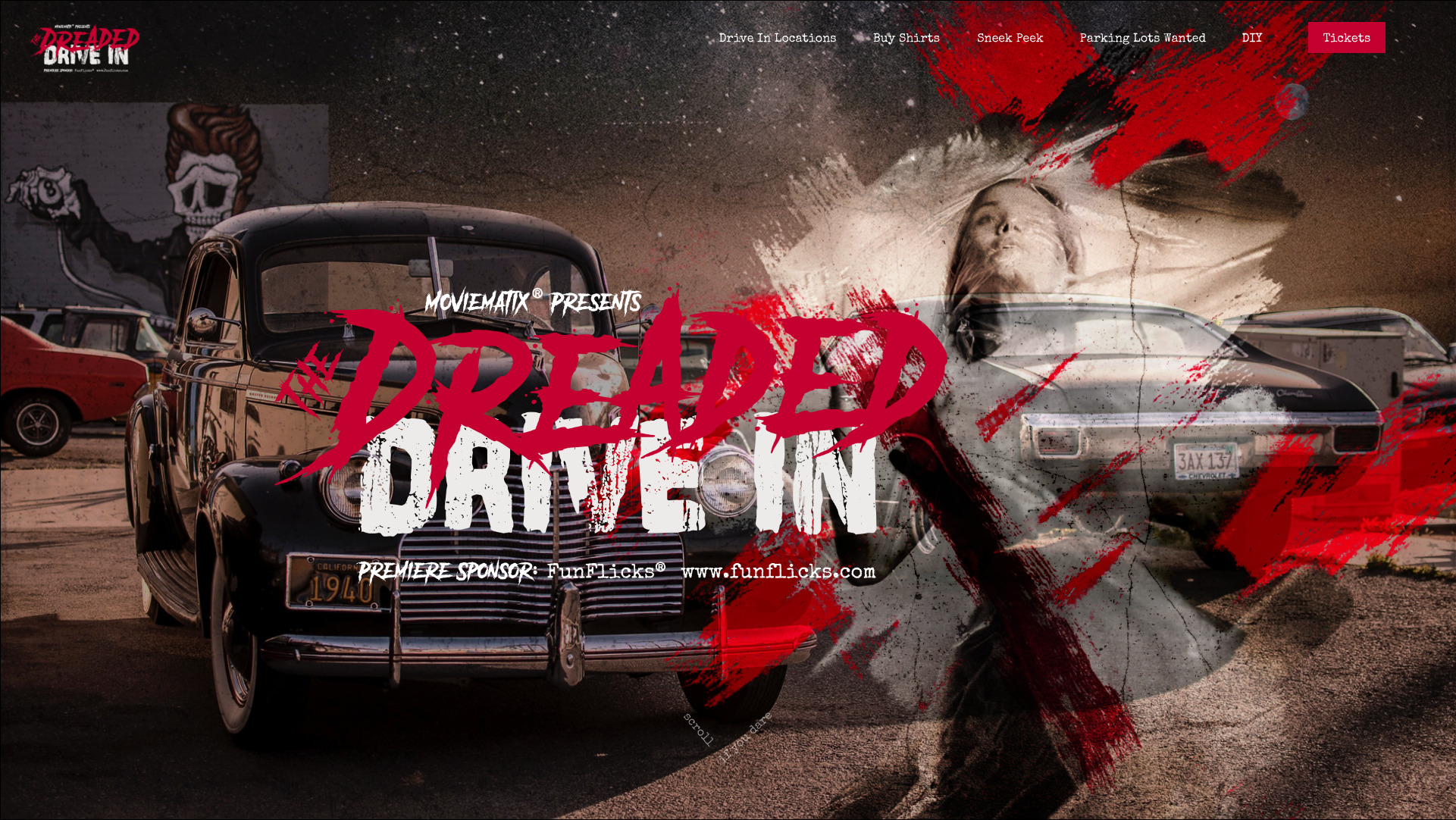 Halloween themed event by the Dreaded Drive In Movie Series