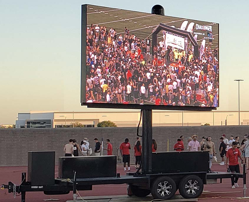 Mobile LED Screen at Track Event